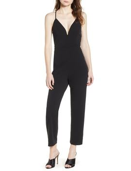 Love, Nicki Lew Lace Detail Jumpsuit by Love, Nickie Lew