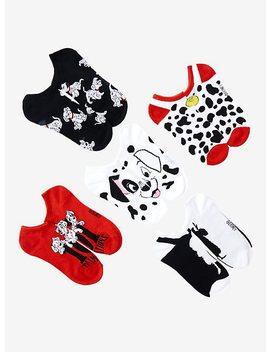 Disney 101 Dalmatians No Show Socks 5 Pair by Hot Topic