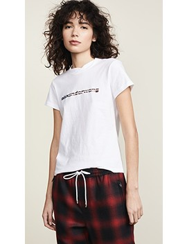 Short Sleeve T Shirt With Logo Decal by Alexander Wang