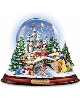 """An Old Fashioned Disney Christmas"" Musical Snowglobe Showcasing 13 Classic Characters By The Bradford Exchange by Amazon"