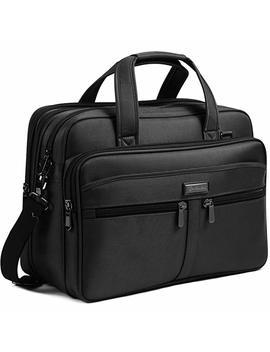 Bostanten 17 Inch Laptop Bag Case Expandable Briefcases For Men Hybrid Computer Water Resisatant Business Messenger Shoulder Bag by Bostanten