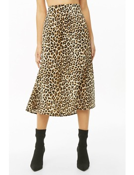 Chiffon Leopard Print Mermaid Skirt by Forever 21