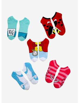 Disney Alice In Wonderland Character No Show Socks 5 Pack by Hot Topic