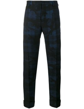 Camo Check Trousers by Valentino