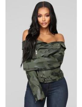Woman In Charge Camo Jacket   Camo by Fashion Nova
