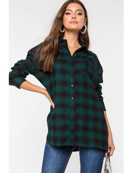 Plaid Flannel Shirt by A'gaci