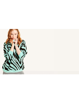 Mint And Black Oversized Animal Jumper by Nobody's Child