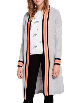 Varsity Stripe Detail Long Cardigan by Scotch & Soda