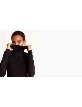 Black Roll Neck Top by Nobody's Child