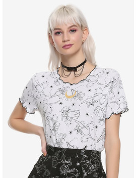 Sailor Moon Ruffled Artemis Girls Crop T Shirt Hot Topic Exclusive by Hot Topic