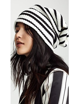 Uneven Stripe Hat by Marc Jacobs