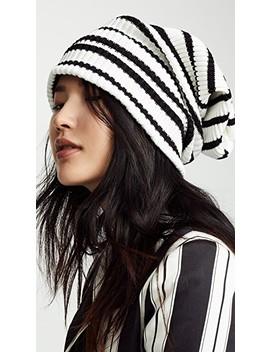 Uneven Stripe Hat by Marc Jacobs