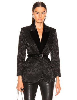 Neval Blazer With Contrast Lapel by L'agence