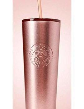 Starbucks Holiday 2018 Sparkling Rose Gold Stainless Steel Cold Cup Tumbler 24oz by Starbucks