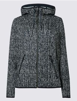 Herringbone Printed Fleece Jacket by Tracked Express Delivery: