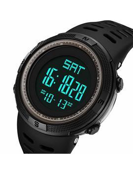 Mens Watches Fashion Digital Electronic Waterproof Military Black Led Sport Multifunction Wrist Watch by Fizili