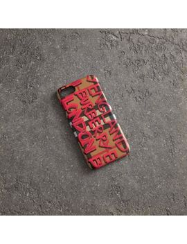 Graffiti Vintage Check Leather I Phone 8 Case by Burberry