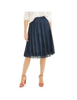 Donna Sorrento Women's Pleated Midi Skirt by Donna Sorrento