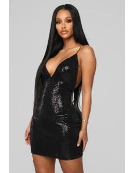 Sparkle With Me Sequin Mini Dress   Black by Fashion Nova