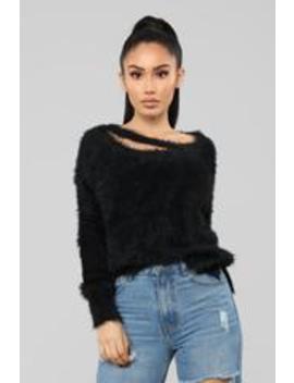 Flirtatious Sweater   Black by Fashion Nova