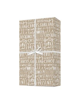 Christmas Typography Gift Wrap   Hand Lettered Christmas Wrapping Paper   Christmas Gift by Etsy