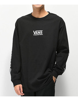 Vans Checkmate Iii Black Long Sleeve T Shirt by Vans