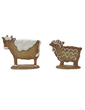 Assorted Tabletop Gingerbread Sheep/Cow By Ashland® by Ashland