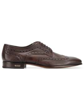 Embroidered Derby Shoes by Baldinini