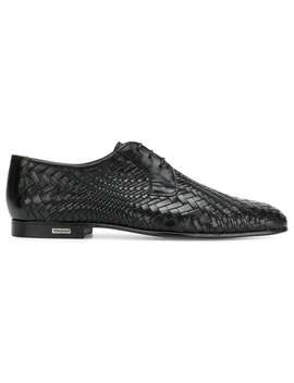 Woven Derby Shoes by Baldinini