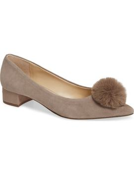 Mirem Faux Fur Pom Pump by Sole Society