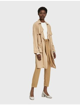 Kye Draped Trench by Stelen