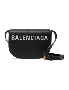 Ville Day Xs Aj Printed Textured Leather Shoulder Bag by Balenciaga