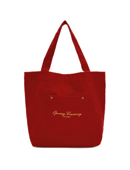 Red Corduroy Tote by Opening Ceremony