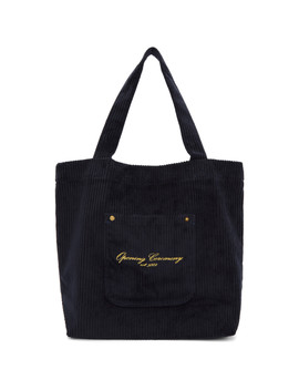 Navy Corduroy Tote by Opening Ceremony