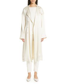 Silk Satin Trench Coat by Mansur Gavriel