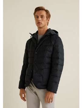 Detachable Inner Quilted Jacket by Mango