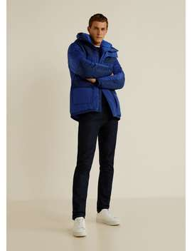 Panel Contrast Technical Anorak by Mango