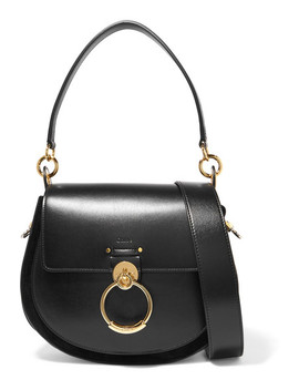 Tess Large Leather And Suede Shoulder Bag by Chloé