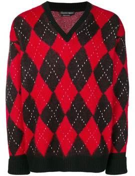Argyle Knit Sweater by Alexander Mc Queen