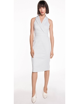 Textured Cotton Asymmetric Dress by Cue