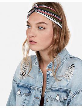 Natasha Striped Soft Knot Headband by Express