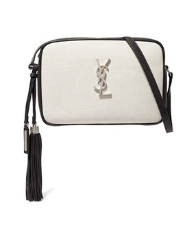Lou Canvas And Leather Shoulder Bag by Saint Laurent