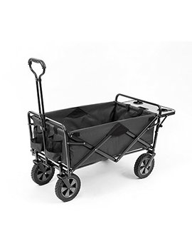 Mac Sports Collapsible Outdoor Utility Wagon With Folding Table And Drink Holders, Gray by Mac S P O R T S