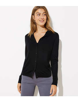 Double Button Collar Signature Cardigan by Loft