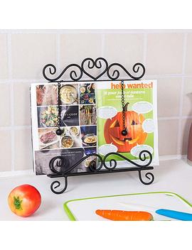 Vintage Scrollwork Design Black Wrought Iron Cookbook Holder Stand by My Gift