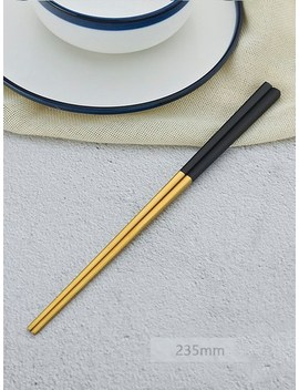 Stainless Steel Chopsticks 1 Pair by Sheinside
