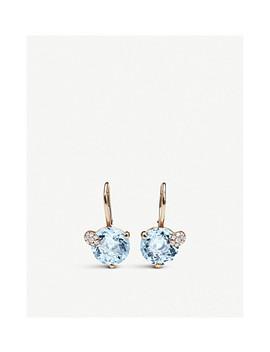 Peekaboo 18ct Rose Gold And Aqua Earrings by Bucherer Fine Jewellery
