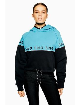 **Blue Hoodie By Topshop Sno by Topshop