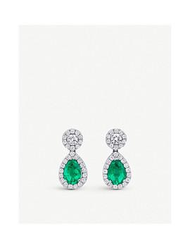 Classics 18ct White Gold Diamond Drop Earrings by Bucherer Fine Jewellery
