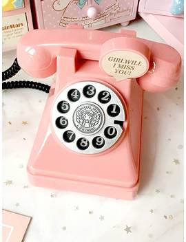 Dial Telephone Shaped Decorative Object by Sheinside
